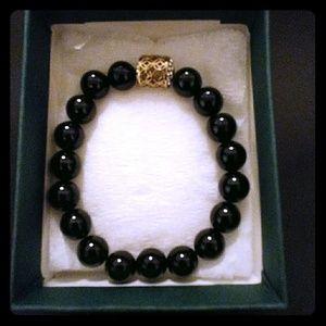 Jewelry - Black Onyx Agate Stone Bracelet